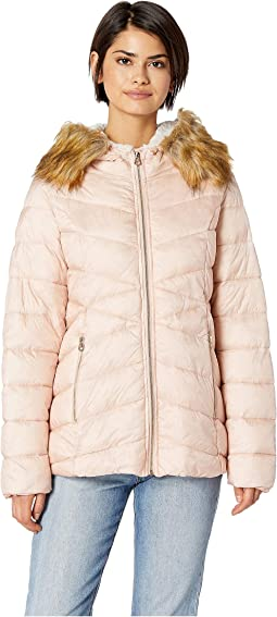 Quilted Jacket w/ Faux Fur Hood