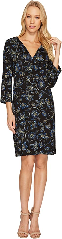 Karen Kane - Floral Stitch Print Shift Dress