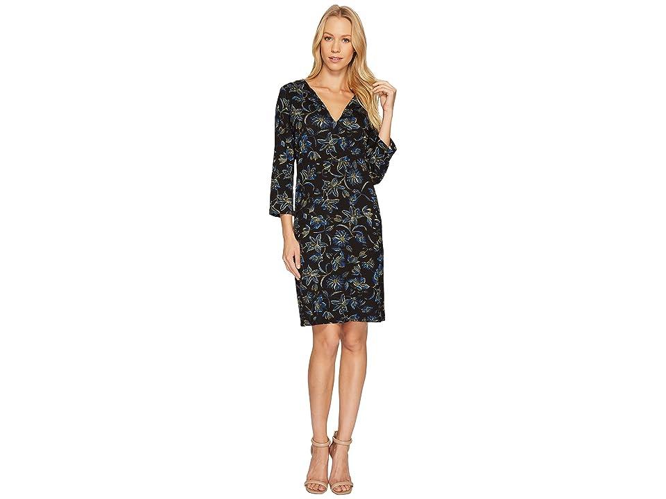 Karen Kane Floral Stitch Print Shift Dress (Print) Women