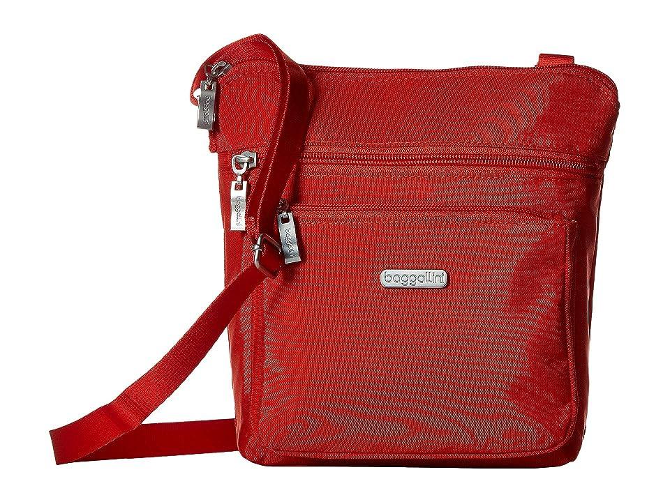 Baggallini Crossbody Bag w/ RFID Wristlet (Vibrant Poppy) Cross Body Handbags