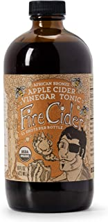 Fire Cider, Apple Cider Vinegar Tonic with Honey, African Bronze Flavor, Pure & Raw, All Certified Organic Ingredients, Not Heat Processed, Not Pasteurized, Paleo, Keto, 32 Shots, 16 oz.