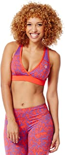 Zumba Women's V Neck Sports Bra with High Impact Support