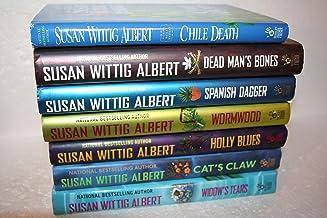 Susan Wittig Albert set of 7- Mysteries[[7. Chile Death (1998) 13. Dead Man's Bones (2005) 15. Spanish Dagger (2007) 17. W...
