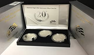2006 American Silver Eagle 20th Anniversary Three Coin Set with COA and OGP Proof