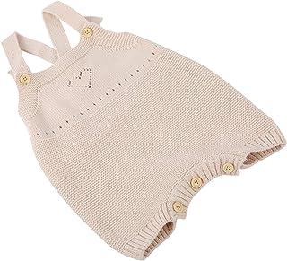 BOLORAMO Barboteuse pour bébé, Tenues Une pièce tricotées Douces et Confortables pour Un Usage Quotidien(Poudre de Pierre,...