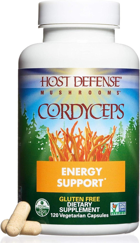 Host Defense  Cordyceps Capsules, Mushroom Support for Energy, 120 Count