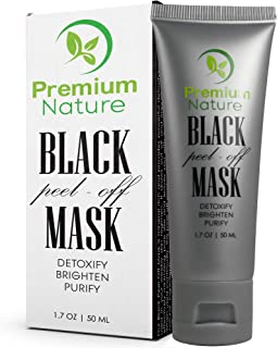 Blackhead Remover Peel Off Mask - Black Charcoal Face Mask Deep Detox Cleanser for Blackheads Pore Minimizer Facial Black Head Masks, Reduce Pores Pimple & Acne Absorbs Dirt & Oil Brighten & Purify
