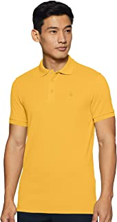 United Colors of Benetton Men's Solid Regular fit Polo (19A3089J0001I_09Y_KL_ Yellow XXXL