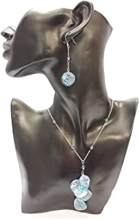 Venetiaurum - Collana e orecchini Donna in vetro Originale di Murano e argento 925 - Gioiello Made in Italy Certificato