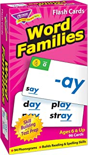 TREND ENTERPRISES, INC. Word Families Skill Drill Flash Cards, 3 X 6 in