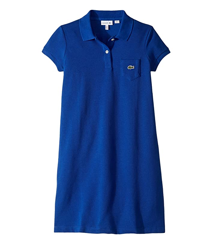 288bdc8246 Lacoste Kids Classic Pique Dress with Pocket (Toddler/Little Kids ...