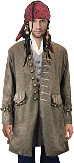 Exact Jack Sparrow Coat Pirate Costume Jacket M/L/XL
