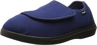 Propet Women's Cush 'N Foot Slipper, Navy, 7.5 2X-Wide