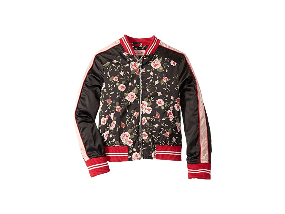 Urban Republic Kids Sateen Color Block Bomber (Little Kids/Big Kids) (Rose) Girl
