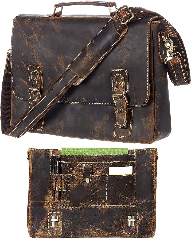 Leather Messenger Spring new work Bag For Men OFFicial shop B RFID Satchel Briefcases Computer