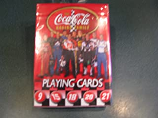 Bicycle NASCAR Coca Cola Racing Family Playing Cards Elliott 9, Waltrip 15, Labonte 18, Stewart 20, Rudd 21, Harvick 29, Petty 45, Jarrett 88, Busch 97, Burton 99