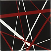 3dRose Red and White Stripes on A Black Background - Ceramic Tile Coasters, Set of 4 (CST_214093_3)