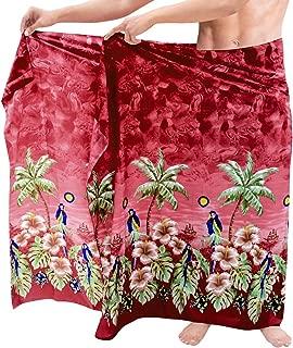 La Leela Uomini Costumi da bagno bathingsuit Hawaiano Spiaggia Sarong 993