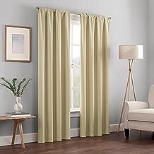 ستائر نافذة كورين عازلة للحرارة بقطعة واحدة وعمود تعليق لاظلام غرفة المعيشة من اكليبس، 42×54 انش، لون كافيه