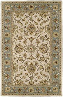 Kaleen Rugs Rugs Khazana Collection St.George-61 Ivory Hand Tufted 5'X7'9 Rug, 5'X7'9
