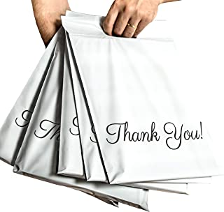 Poly Mailers 10x13 with Handle, Packaging Bags 100 Pcs, Thank You Mailing Envelopes, Shipping Bags for Clothing, 2.75 Mil Quality Mailers, Boutique Bags with Self Adhesive Strip, Donyson