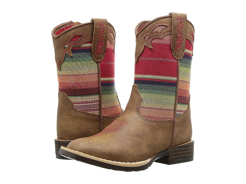 M&F Western Kids Serenity (Toddler/Little Kid) (Tan/Multi) Cowboy Boots