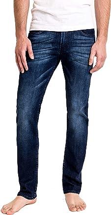 Duc Denim - Jeans Para Hombre - Henri the Hopeful - Washed Blue - Straight Fit - Jeans Azules - Alta Calidad de Mezclilla - Corte Ajustado - Fit Perfecto - Estilo Moderno - Denim - Para Caballero - Skinny - Se Estiran - Mezclilla Elastica