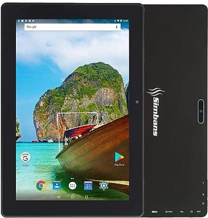 [3 Bonus Item] Simbans TangoTab 10 Inch Tablet   2GB RAM, 32GB Disk, Android 8.1 Oreo   New 2019 Model   GPS, WiFi, USB, HDMI, Bluetooth   IPS Screen, Quad Core CPU, 2+5 MP Camera Computer PC