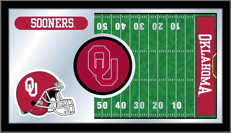 Holland Bar Stool NCAA Oklahoma Sooners 15 x 26-Inch Football Mirror