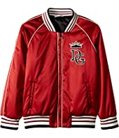 Dolce & Gabbana Kids - Satin Baseball Jacket (Little Kids)