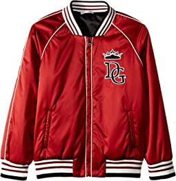 Satin Baseball Jacket (Little Kids)