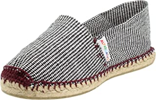 ALPARGATUS PASOS ARTESANALES HECHO A MANO MADE IN SPAIN Espadrille Flat Houndstooth Burdeos