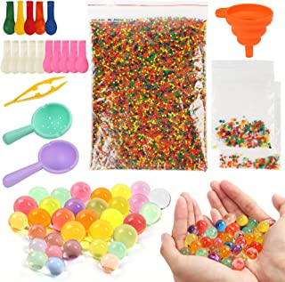 LotFancy Water Beads and Sensory Toys Kit (30000 Small /150 Medium/ 150 Large Water Pearls), Kids Non Toxic Gel Beads Gel ...