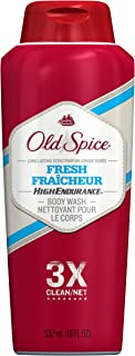 Body Wash for Men by Old Spice, Body Wash for Men, High Endurance Fresh Scent, 18 Fl Oz (Pack of 6)