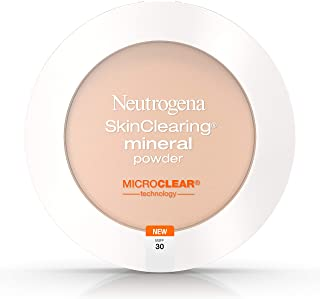 Neutrogena SkinClearing Mineral Acne-Concealing Pressed Powder Compact, Shine-Free & Oil-Absorbing Makeup with Salicylic Acid to Cover, Treat & Prevent Acne Breakouts, Buff 30,.38 oz