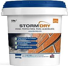 Stormdry Crema de Protección para Albañilería de 5L. El único producto impermeabilizante para ladrillos certificado por la BBA. Demostrados 25 años de Protección Contra la Humedad Penetrante