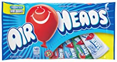 AirHeads Candy Variety Bag, Individually Wrapped Assorted Fruit Mini Bars, Non Melting, 12 Ounces