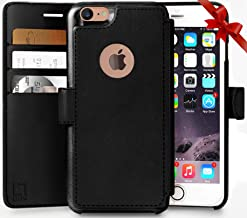 iPhone 8 Wallet Case, Durable and Slim, Lightweight with Classic Design & Ultra-Strong Magnetic Closure, Faux Leather, Black, Apple 8 (2017)