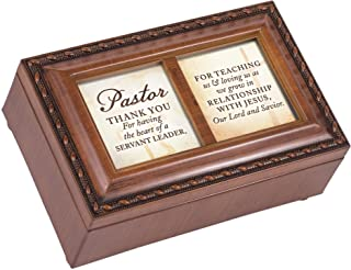 Cottage Garden Pastor Thank You for Teaching Woodgrain Petite Music Box Plays How Great Thou Art