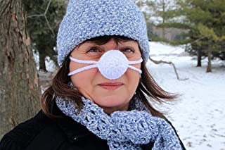 crochet nose warmer