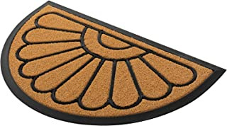 Rubber Door Mat, Half Round Outdoor Doormat by PILITO, Heavy Duty Welcome Mats, Non-Slip Entrance Mat for Patio, Entry, Ho...