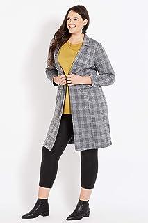 Beme Long Sleeve Jacquard Knit Coat - Womens Plus Size Curvy