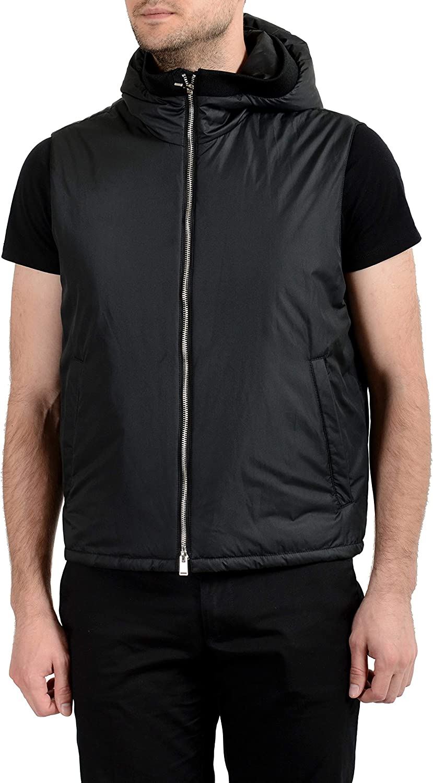 Hugo Boss T-Canet Men's Full Zip Hooded Lightly Insulated Vest US XS IT 46 Black