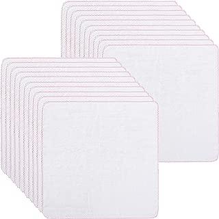20 Pieces Cotton Facial Cleansing Muslin Cloths Soft Cloths Remove Makeup Tool Polishing Facial Cloths(Pink)