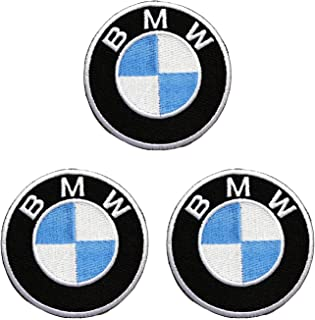 3pieces BMW Embroidered Iron on Patch ,Sew On Logo Clothes Clothing