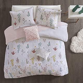 Urban Habitat Kids Desert Bloom Ultra Soft 100% Cotton Printed Floral 5 Piece Duvet Cover Set Teen Bedding, Full/Queen Size, Red Multi