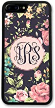 Simply Customized Phone Tough Case, Compatible with iPhone 7 Plus (5.5 inch) - Floral Roses Monogram Monogrammed Personalized