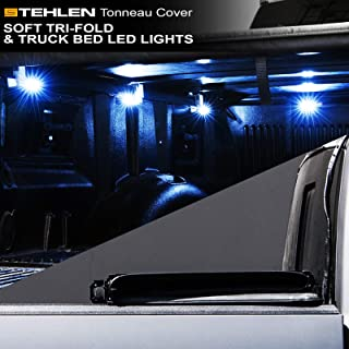 Stehlen 733469489559 Soft Tri-Fold Tonneau Cover with Truck Bed LED Lights For 15-19 Chevy Colorado/GMC Canyon Crew Cab 5 Feet (60