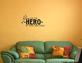 YOU ARE THE HERO OF YOUR OWN STORY Vinyl wall quotes stickers sayings home ar...