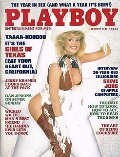 Playboy Magazine January 1985 Steve Jobs, Girls of Texas